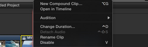 Menu Compound Clip